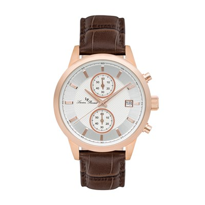 Lucien Piccard Gent's Clark IP Watch with Genuine Leather Strap