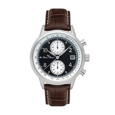 Lucien Piccard Gent's Welles Watch with Genuine Leather Strap