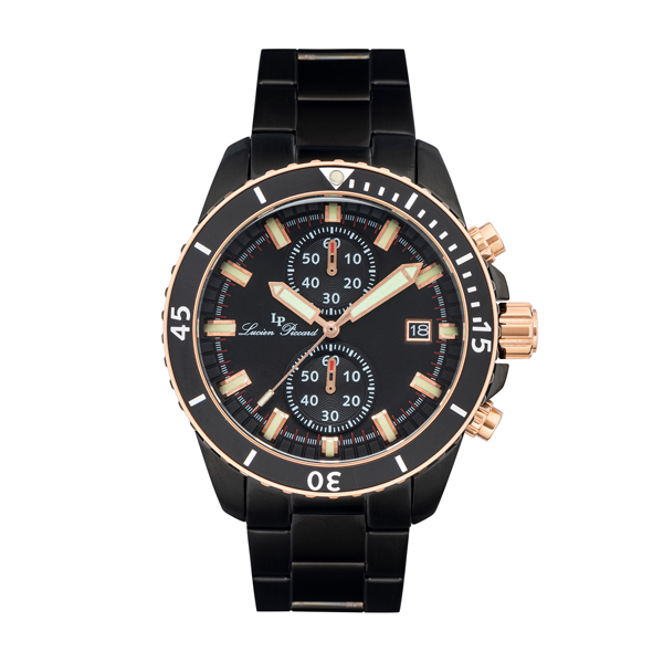 Image of Lucien Piccard Gent's Marlon IP Watch with Stainless Steel Bracelet