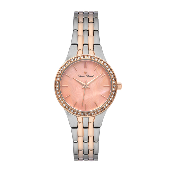 Lucien Piccard Ladies' Jayne Watch with Stainless Steel Bracelet Silver/Rose Gold