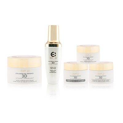 Elizabeth Grant Collagen Re-Inforce 3D 5 Piece Kit (Face Serum with Day, Night, Eye & Neck Creams)