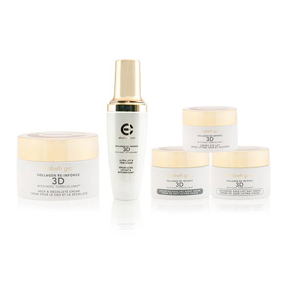 Elizabeth Grant Collagen Re-Inforce 3D 5 Piece Kit (Face Serum with Day, Night, Eye & Neck Creams) No Colour