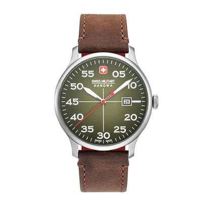 Swiss Military by Hanowa Gent's Active Duty Watch with Genuine Leather Strap