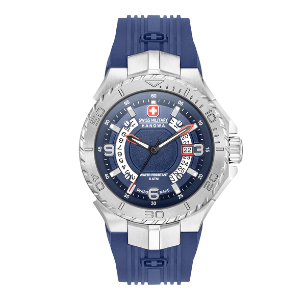 Swiss Military by Hanowa Gent's Mariner Watch with Silicone Strap Blue