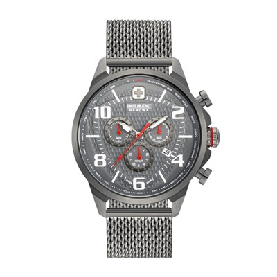 Swiss Military by Hanowa Gent's Airman Chrono IP Plated Watch with Milanese Bracelet