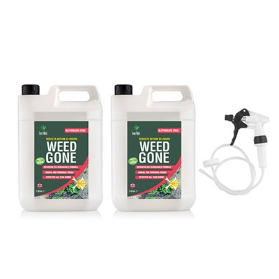 Enviroworks 5L Twinpack Weed Gone Weed Killer with Long Hose Trigger Spray