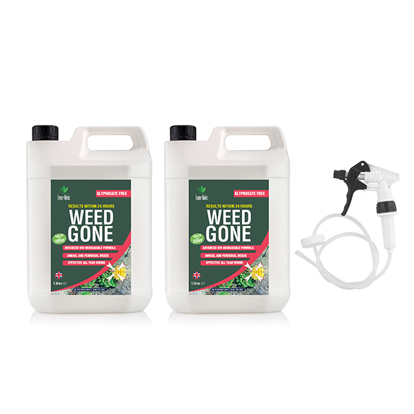 Enviroworks 5L Twinpack Weed Gone Weed Killer with Long Hose Trigger Spray No Colour