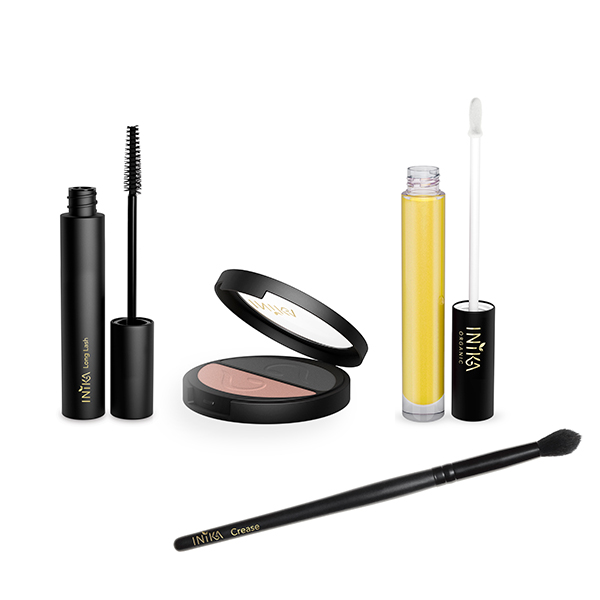 INIKA Eye & Lip Essential 4pc Collection Black Sand