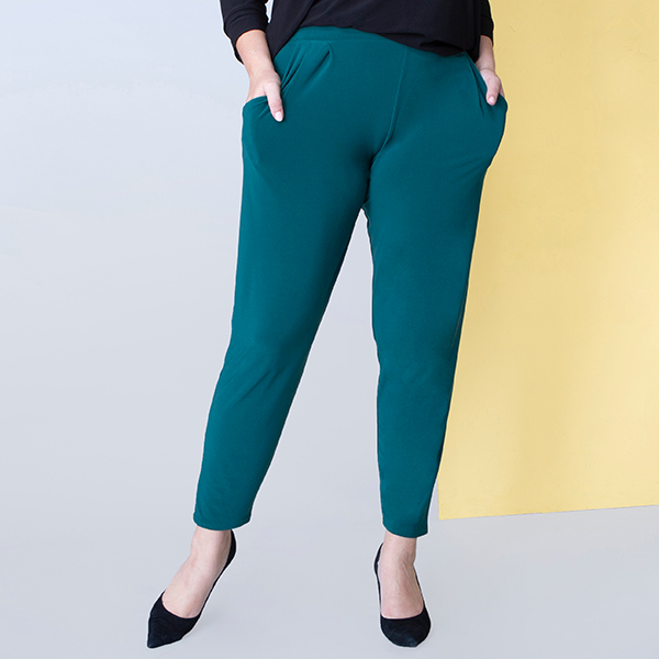 Styled By Tapered Trouser Bottle Green