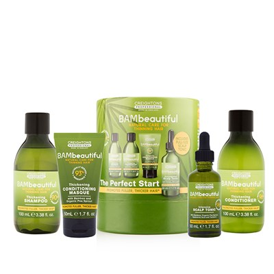 BAMbeautiful Perfect Start Set (Shampoo 100ml, Conditioner 100ml, Tonic 50ml, Masque 50ml)