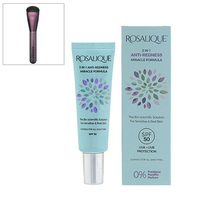 Rosalique 3 in 1 Anti-Redness Miracle Formula SPF50 30ml with Application Brush
