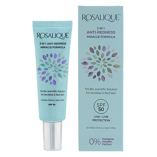 Rosalique 3 in 1 Anti-Redness Miracle Formula SPF50 30ml No Colour