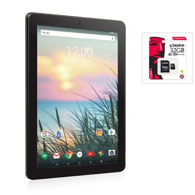 RCA Viking 10L 10 Inch Android Tablet with Kingston 32GB MicroSD Card