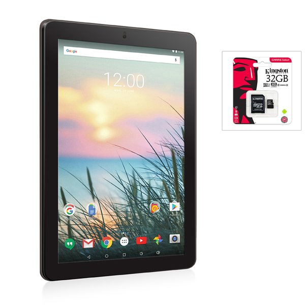 RCA Viking 10L 10 Inch Android Tablet with Kingston 32GB MicroSD Card No Colour