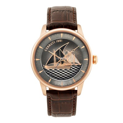 Cerruti 1881 Gent�s Albiano Sail Dial Watch with Genuine Leather Strap