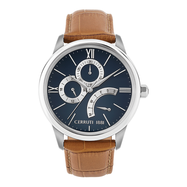 Cerruti 1881 Gent's Albiano Watch with Genuine Leather Strap Blue