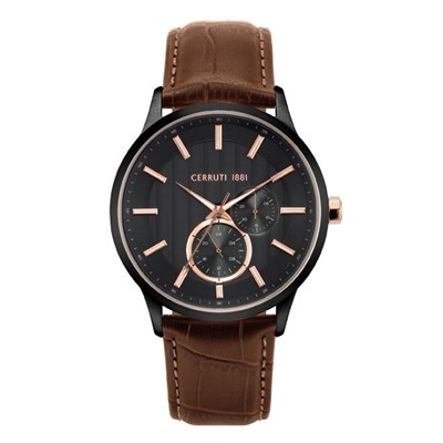 Cerruti 1881 Gent's Carzano Watch with Genuine Leather Strap