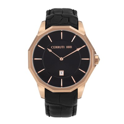 Cerruti 1881 Gent's Molveno Watch with Genuine Leather Strap