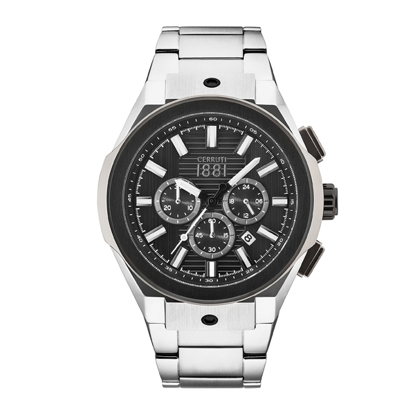 Cerruti 1881 Gent's Ruscello Chronograph Watch with Stainless Steel Bracelet Black/Silver