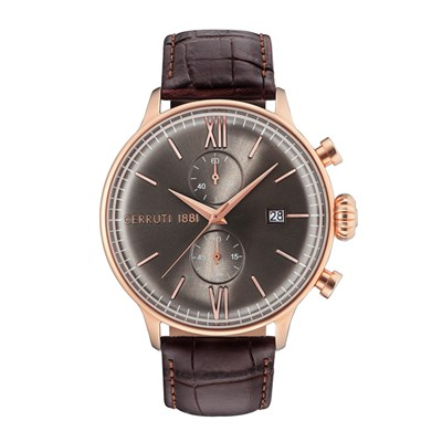Cerruti 1881 Gent's Dervio Watch with Genuine Leather Strap