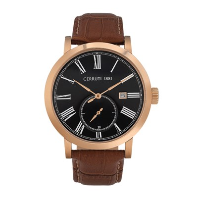 Cerruti 1881 Gent's Sarnonico Watch with Genuime Leather Strap