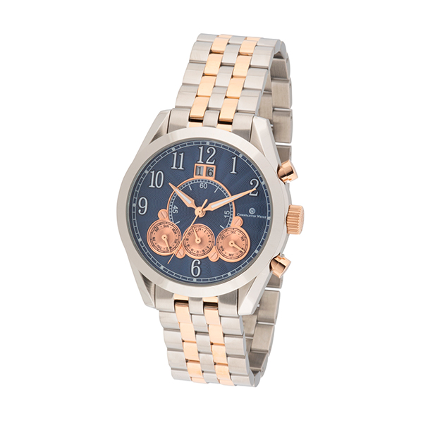 Constantin Weisz Gent's Automatic Multi-Function Watch with Stainless Steel Bracelet Rose Gold