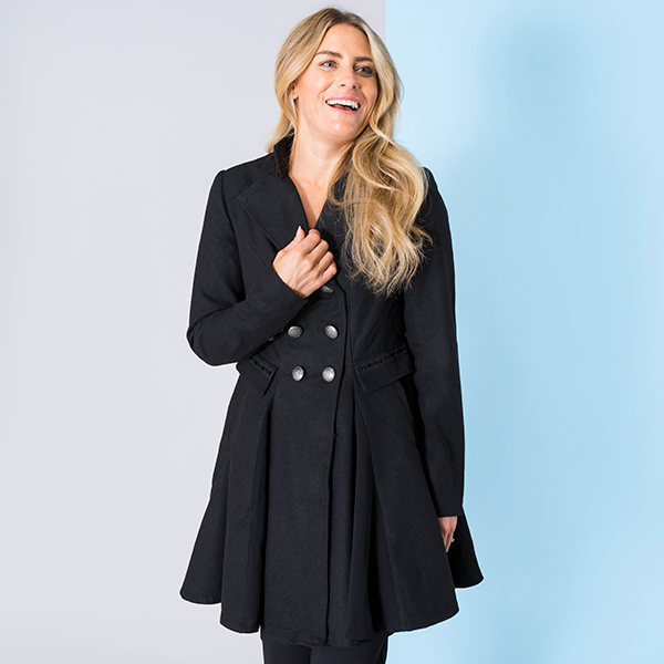 Joe Browns Remarkable Hem Coat Black