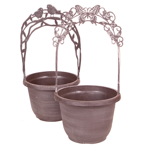 Butterfly & Bird Trellis Planters No Colour