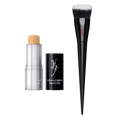 ybf Glide-on Gorgeous Foundation Stick with Pro Flat BufferBrush