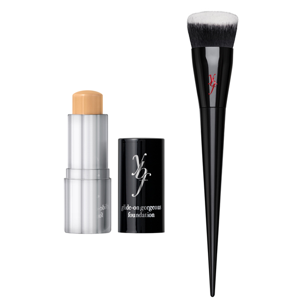 YBF Glide-on Gorgeous Foundation Stick with Pro Flat BufferBrush Medium