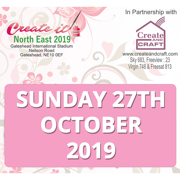 Create It Gateshead Sunday 27th October 2019 Advanced Day Ticket No Colour
