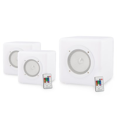 Cube Connex Portable Speakers (3 Pack - 2 x 20cm and 1 x 30cm)