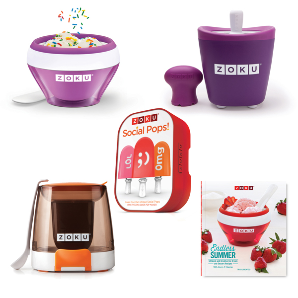 Zoku Ice Cream and Pop Maker Bundle with Social Media Kit, Chocolate Station and Recipe Book No Colour