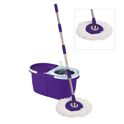 Purple Dual Bucket Cyclone Mop with 5 Spare Heads