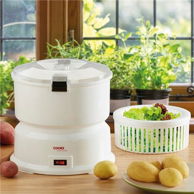 Cooks Professional White Potato Peeler and Salad Spinner