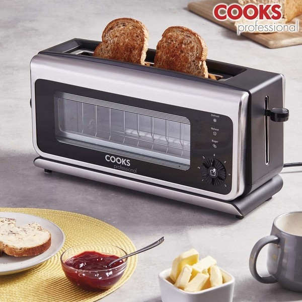Cooks Professional G3482 Glass Toaster No Colour