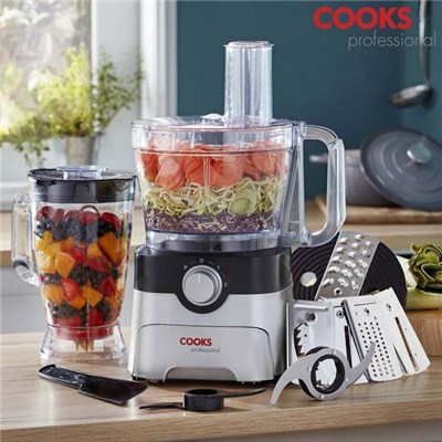 Cooks Professional G3483 1000W Black and Silver Food Processor