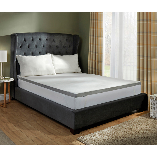 Starry Night 3cm Single Memory Foam Grey Edge Mattress Topper No Colour