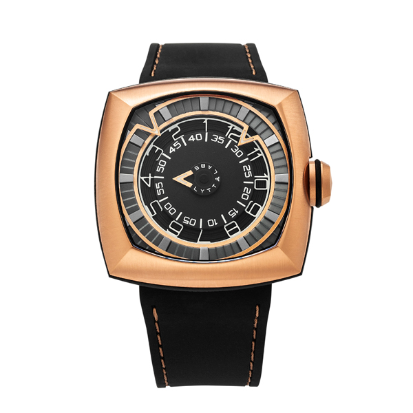 Lytt Labs Inception V1.1 Rose Gold Gent's Watch Black