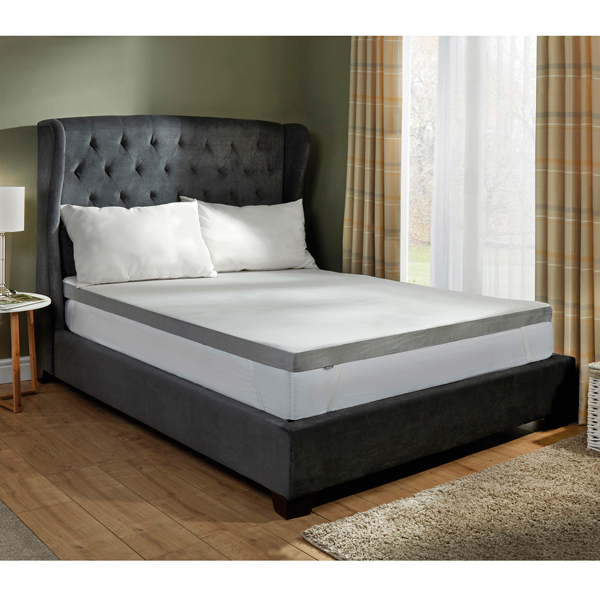 Starry Night 5cm Single Memory Foam Grey Edge Mattress Topper No Colour