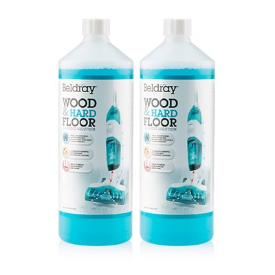 Beldray Wood & Hard Floor Cleaning Solution 1L (Twin Pack)