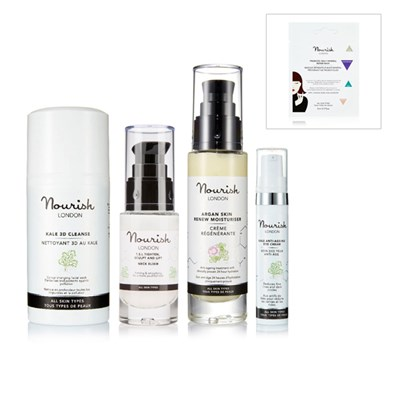 Nourish London 4 Piece Collection with Free Multi-Mineral Repair Mask Sachet
