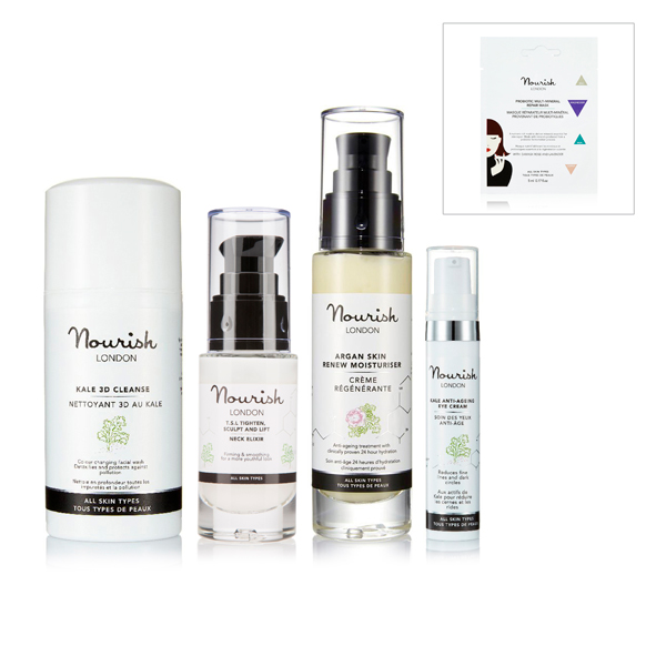 Nourish London 4 Piece Collection with Free Multi-Mineral Repair Mask Sachet No Colour