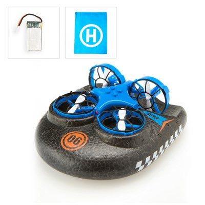 Hover Blast 3 in 1 Air, Land and Sea Drone plus Battery and Bag Bundle
