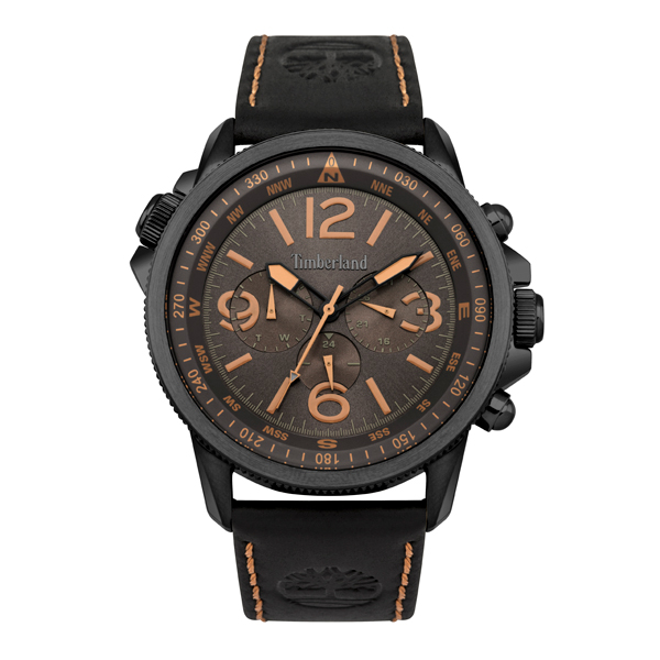 Timberland Gent's Campton Watch with Genuine Leather Strap Black