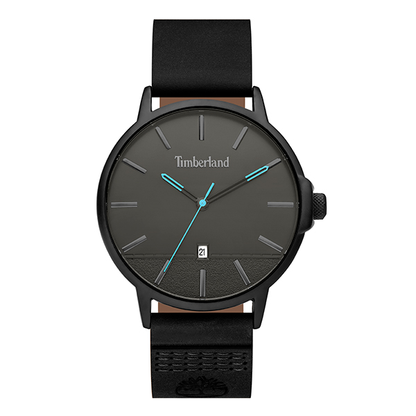 Timberland Gent's Rollinsford Watch with Genuine Leather Strap Black