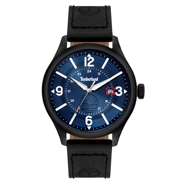 Timberland Gent's Blake Watch with Genuine Leather Strap Black
