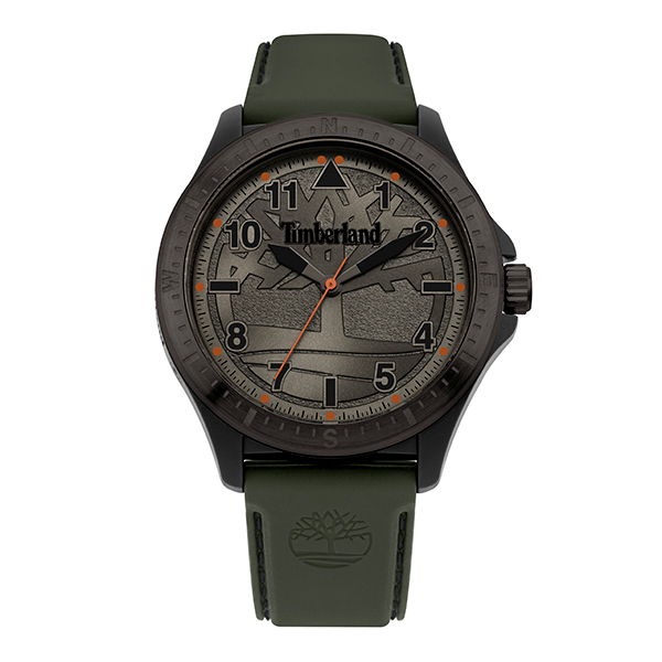 Timberland Gent's Glenburn Watch with Silicone Strap Green