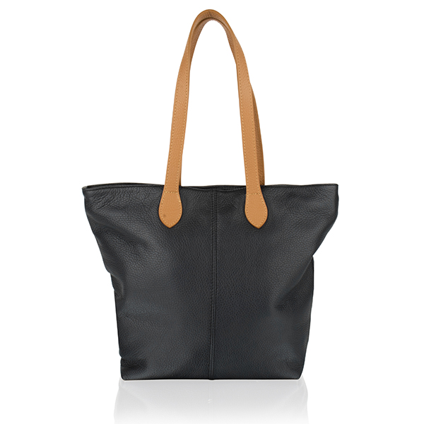 Woodland Leather Large Tote Bag Black