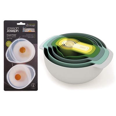 Joseph Joseph Opal Nest 9 Plus Nesting Set with Froach